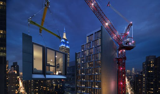 Erecting the 26-story, modular AC Hotel New York NoMad is expected to take only 90 days. Design and image credit: Danny Forster & Architecture