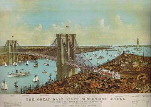 Bird's eye illustration of the bridge, 1892. (Courtesy: The Historical Atlas of New York City: A Visual Celebration of Nearly 400 Years of New York City's History) Courtesy of Van Alen Institute