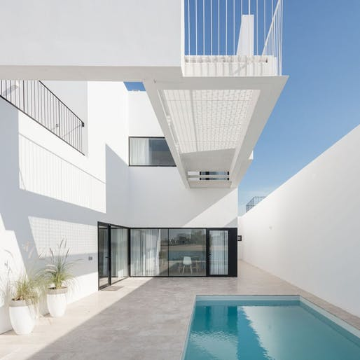 Areia Houses by Associated Architects Partnership (AAP), located in Kihran, KW. Image: Joao Morgado.