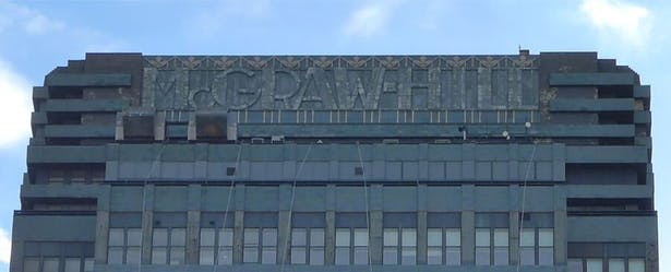 McGraw-Hill sign before restoration.