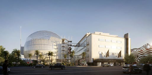 Exterior rendering of the Academy Museum of Motion Pictures © Renzo Piano Building Workshop/©Academy Museum Foundation/ Image from L'Autre Image