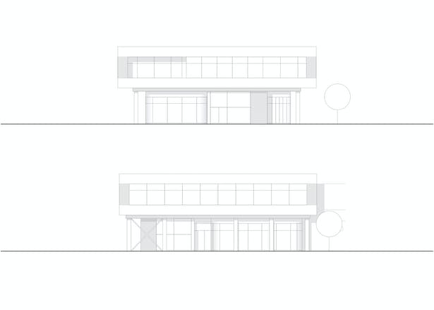 Elevation South & West