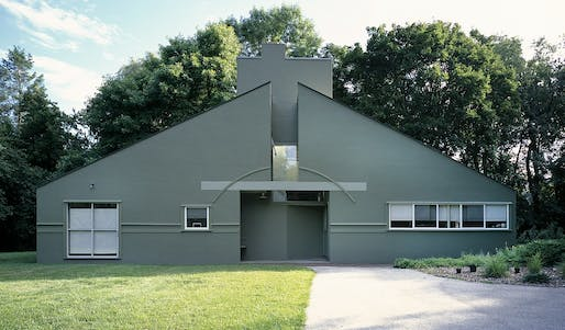 The Vanna Venturi House in Philadelphia, photo via wikimedia.org.