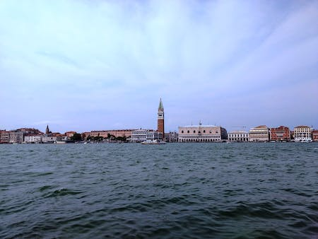 Venice from the water. Photo by author.