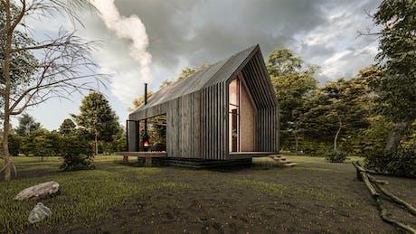Modern Forest Cabin