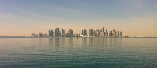 View of the Doha skyline. Image courtesy of Pixabay.