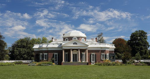 Thomas Jefferson's Monticello, where 133 enslaved workers were sold after Jefferson's death. Image courtesy of Wikimedia user r Martin Falbisoner.