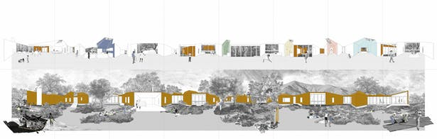 TOLO Branch House Unfolded exterior and interior elevations