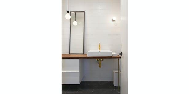 Studio restroom.