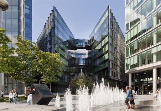 PricewaterhouseCooper's headquaters, designed by Fosters + Partners, at 7 More, London.