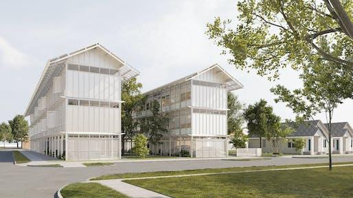 Winner in A+ Student Award – Sebastián López Cardozo and Lene-Mari Sollie (Rice University): A New Housing Model for Social and Environmental Resilience in Houston's Third Ward
