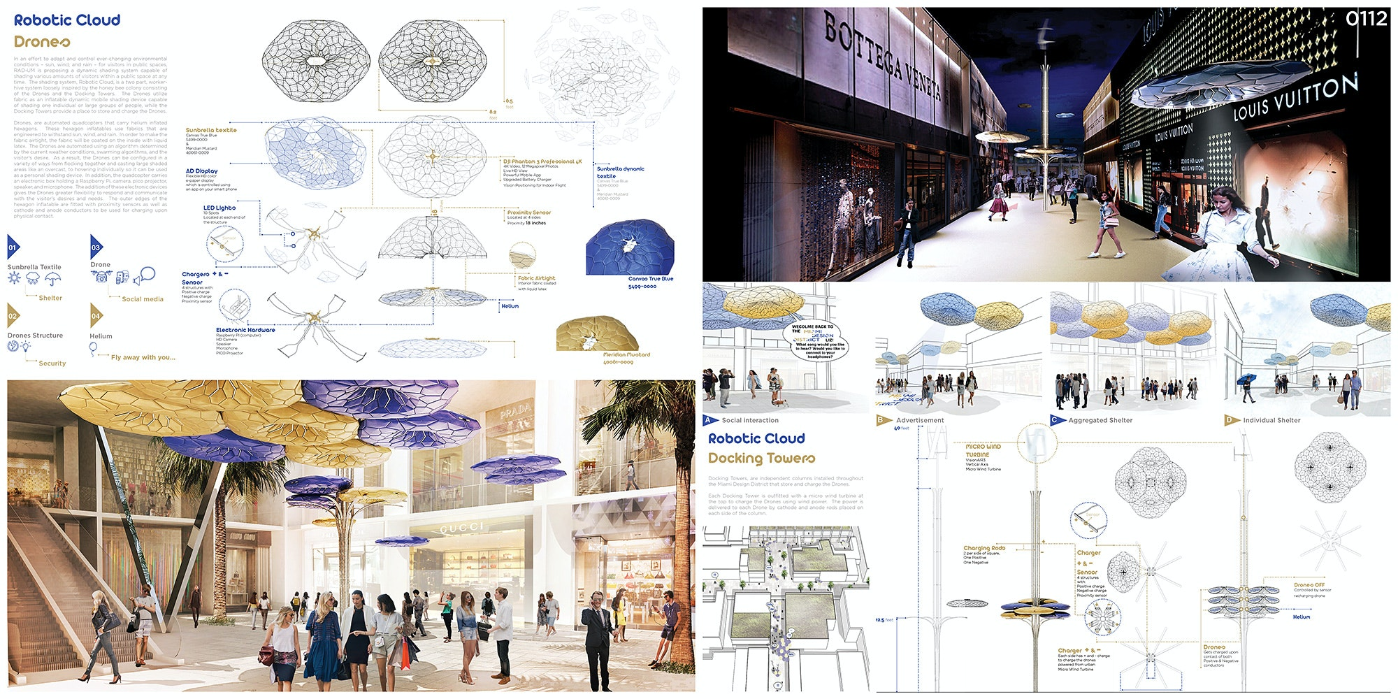Honorable Mention: U201cRobotic Cloudu201d. Authors: School Of Architecture,  University Of