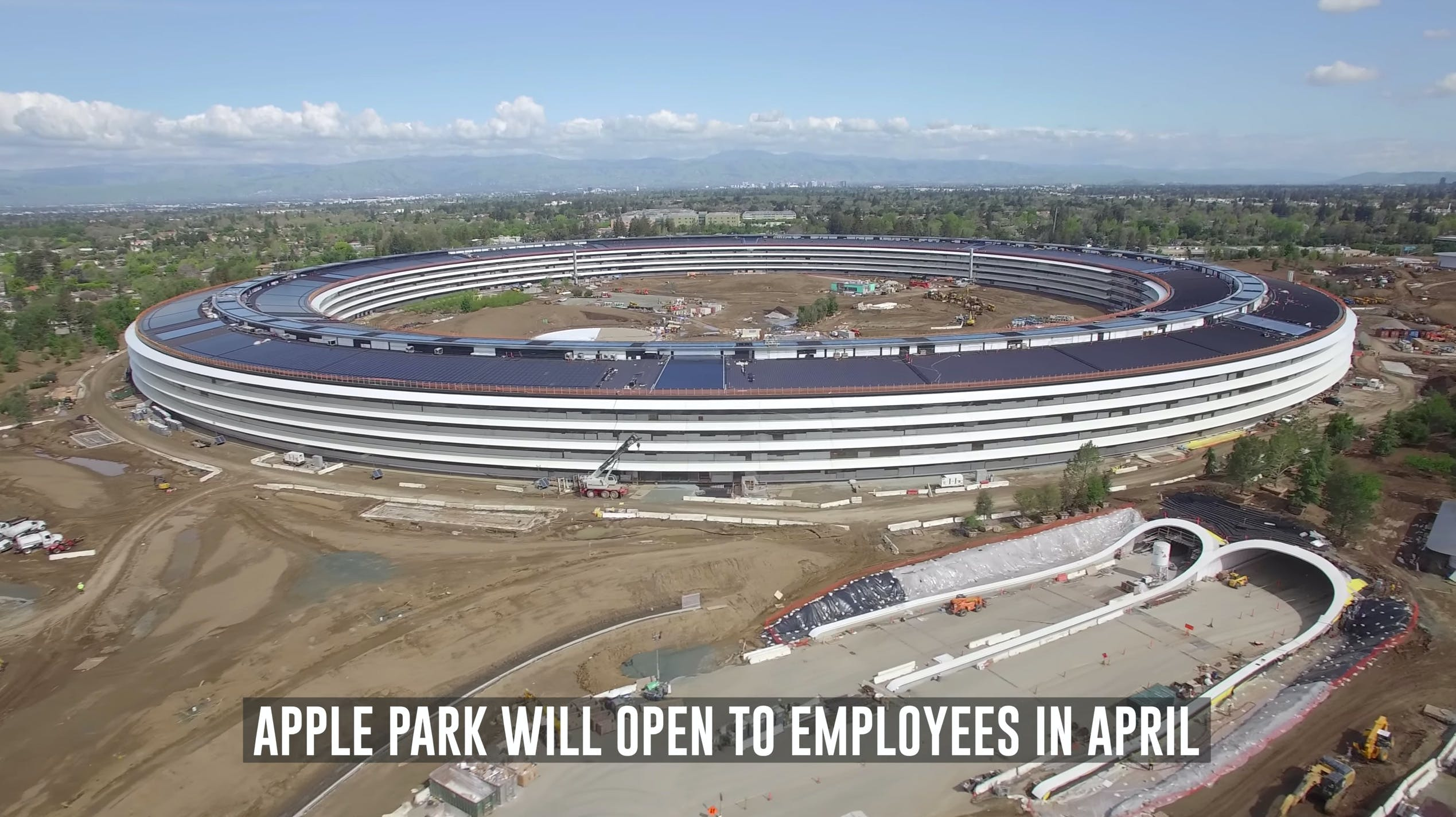 An exquisite drone tour over Apple's new campus reveals the