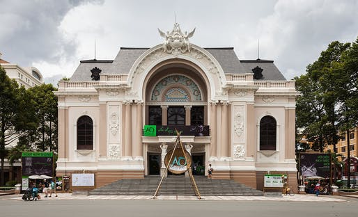 The Municipal Theatre of Ho Chi Minh City, also known as Saigon Opera House, enjoys a special heritage protection status, but countless other historic structures in the rapidly growing city weren't so lucky. Photo: Diego Delso, delso.photo, License CC-BY-SA.