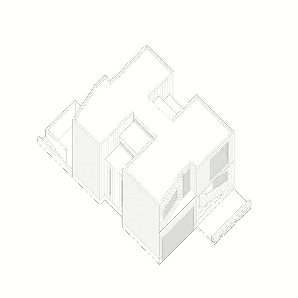 rzlbd / Out(side)In House / diagram / axonometric model