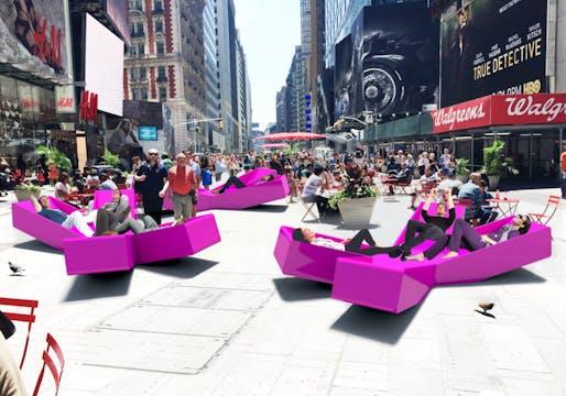 "Jürgen Mayer H's installation ""XXX Times Square"""