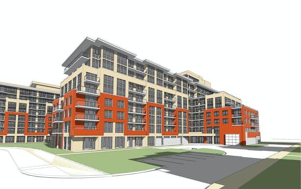 Building B Front 3D View
