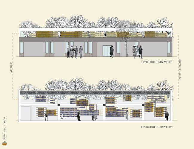 Exterior/interior elevation