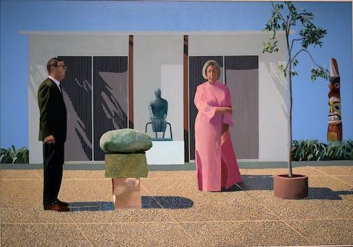 """American Collectors (Fred and Marcia Weisman)"" by David Hockney. © David Hockney. Photo by Daniel Hartwig/Flickr."