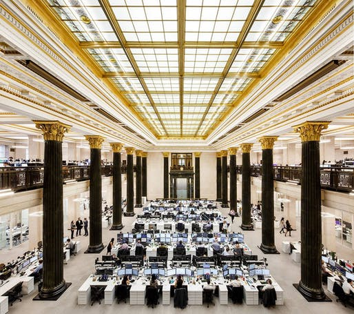 Project: National Bank trading floor in Montreal by Architecture49. Photo: Stéphane Brugger.