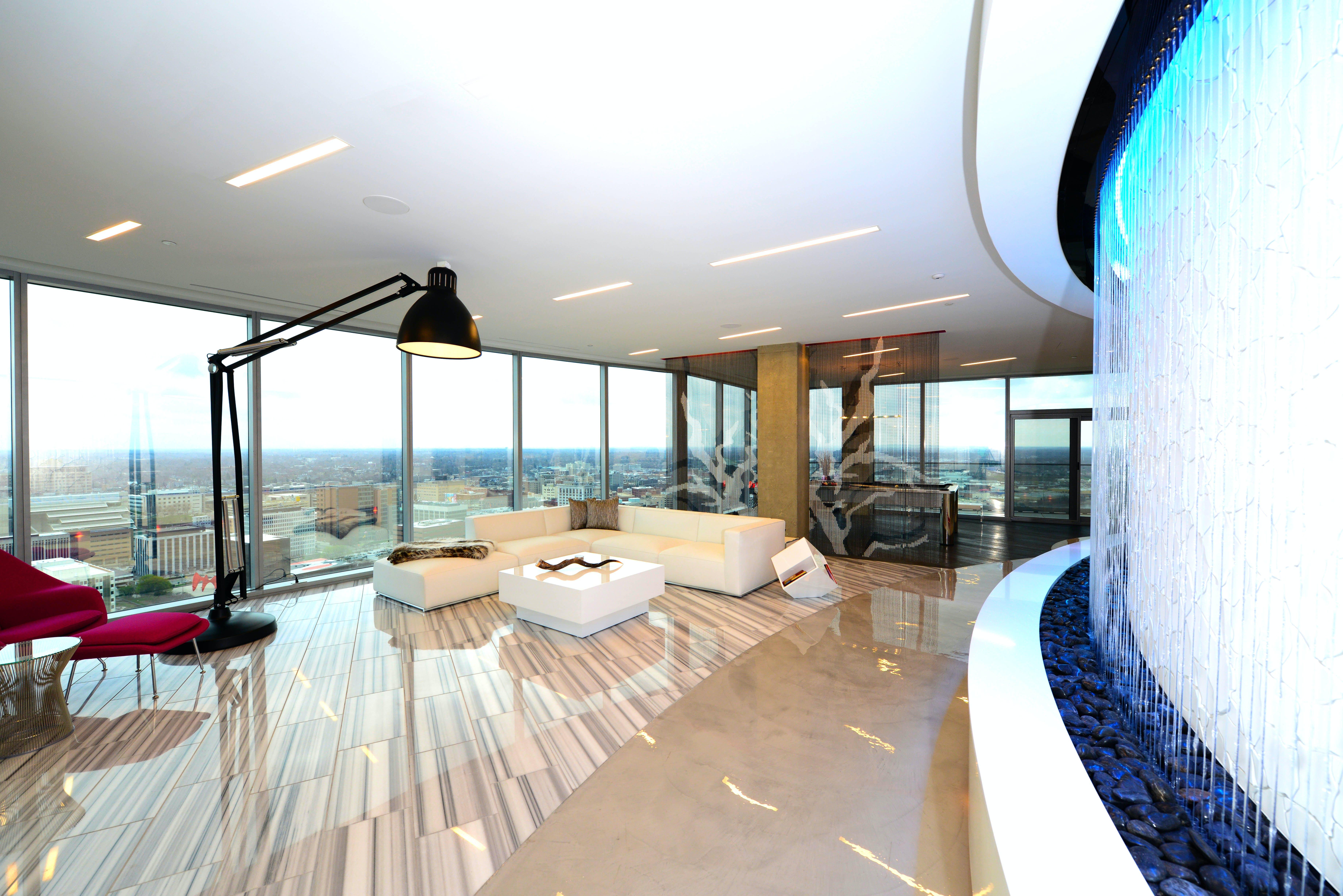 Riverhouse penthouse condominium von staden architects - Interior design jobs grand rapids mi ...