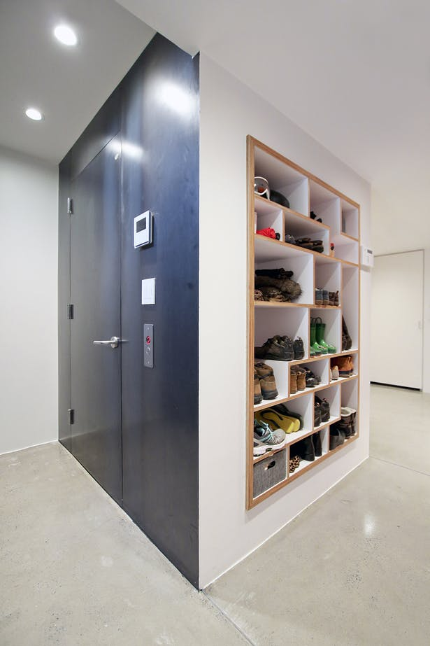 Mudroom Cubbies from Baltic Birch Plywood and White Laminate