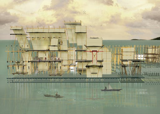 2nd Place - Eco-Shelterscape of Fishery By Huang Yi.