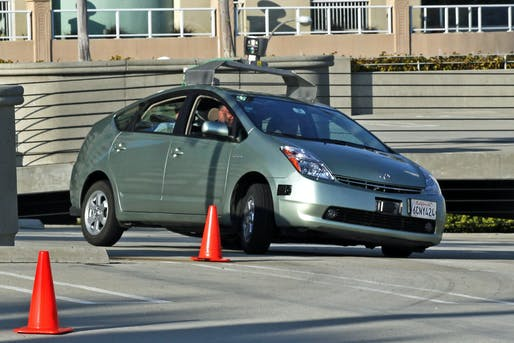 A Toyota Prius modified into a self-driving car by Google. Credit: Wikipedia