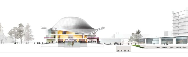 Short section (Image: Henning Larsen Architects and Van den Berg Groep)