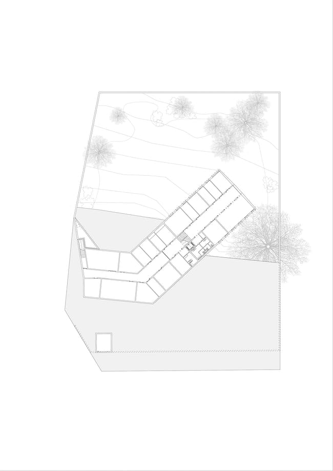Floor plan, levels 1 & 2. Image courtesy of Roeoesli & Maeder Architects.