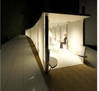 Pavilion inspired by music