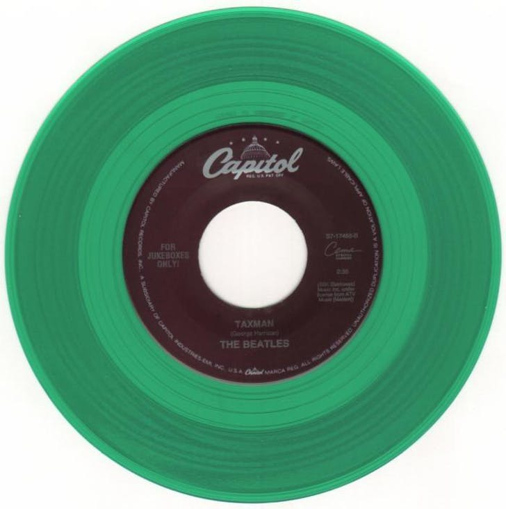 The Beatles 'Taxman' single. Image via amazon.com.