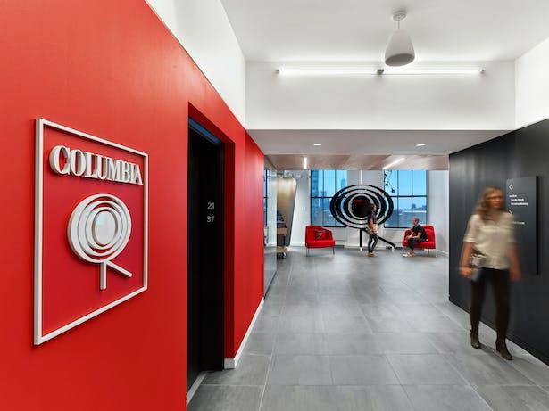 Columbia Records elevator lobby
