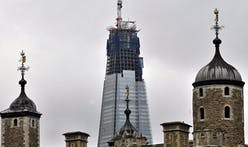 Highest ever crane installed in London as work begins to complete Shard skyscraper
