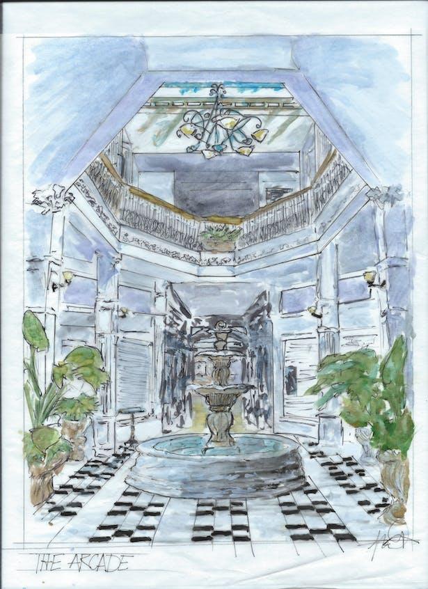 The Arcade Building Sketch