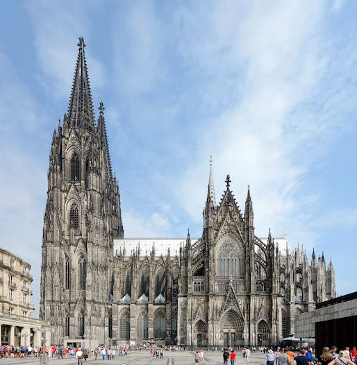 "View of the Cologne Cathedral. Image courtesy of <a href=""https://commons.wikimedia.org/wiki/File:Cologne_cathedrale_vue_sud.jpg""> Photo via Wikimedia user Velvet</a>"
