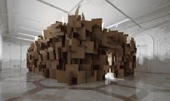 Zimoun + Hannes Zweifel : 200 prepared dc-motors, 2000 cardboard elements 70x70cm