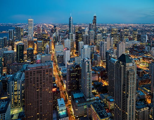 Chicago skyline. Photo: Pedro Szekely/Flickr.