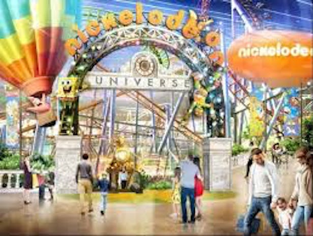 Nickelodeon themed Interior render of Amusement Park - Entry