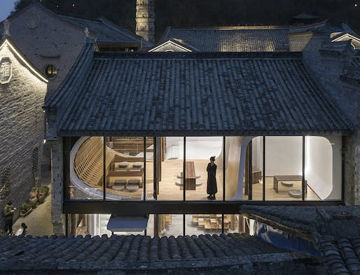"""<a href=""""https://archinect.com/firms/project/18105042/new-retail-jiangnan-zan-as-a-rising-wave-of-a-historic-city/150275556"""">Jiangnan Zan</a> in Linhai, China by <a href=""""https://archinect.com/firms/cover/18105042/lycs-architecture"""">LYCS Architecture</a>; Photo: WU Qingshan"""