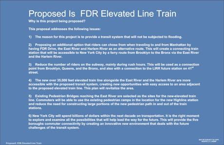 FDR Eleveted Line Train Manhattan