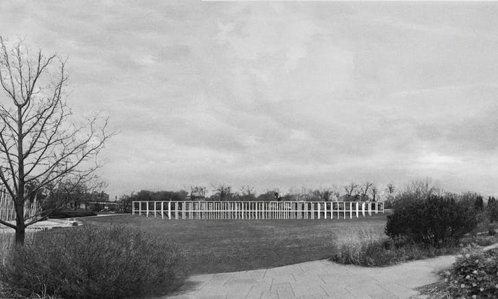 Rendering of the Wallderful pavilion proposed for Garfield Park. Courtesy Dellekamp Arquitectos.