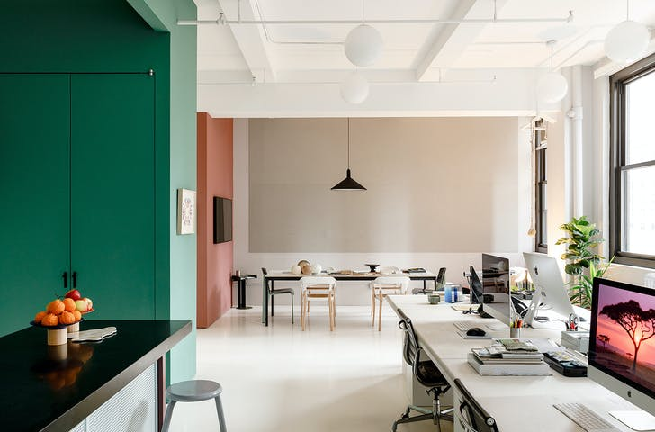 The office of New York-based design practice Michael K Chen Architecture. Read our Studio Snapshot interview with founding principal Michael K Chen here. Photo: Max Burkhalter.
