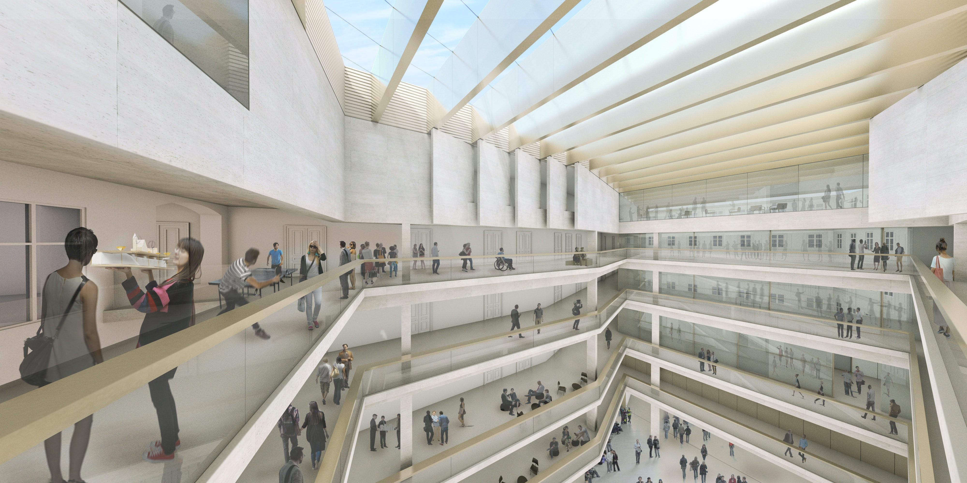 Interior Front Zollamtsstrasse 7   University Of Applied Arts Vienna /  Rendering By Josef Andraschko_RIEPLKAUFMANNBAMMER ARCHITECTURE