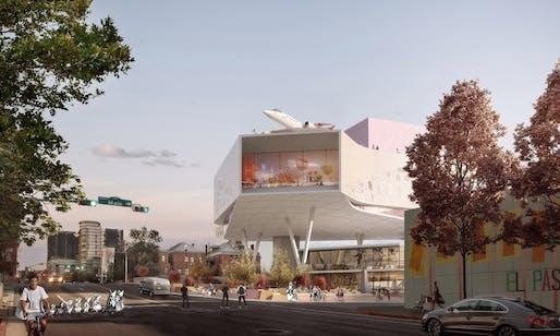 Conceptual rendering of Snøhetta's winning bid for the El Paso Children's Museum. Image: Snøhetta.