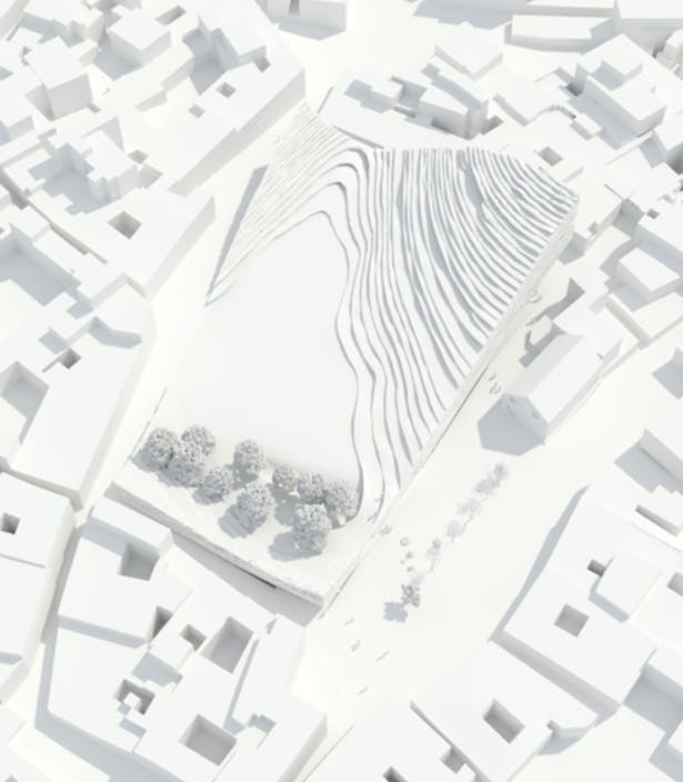 Model aerial view