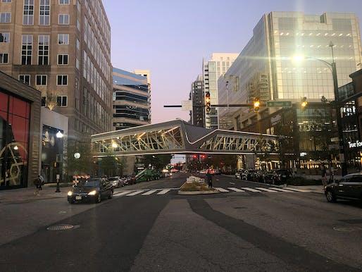 Less than $15 Million - Merit Award: Ballston Quarter Pedestrian Walkway, Arlington, VA. Structural Engineer: Peller + Associates, Westlake, OH. Architect: studioTECHNEarchitects, Cleveland, OH. Photo: Marco Ciccarelli.
