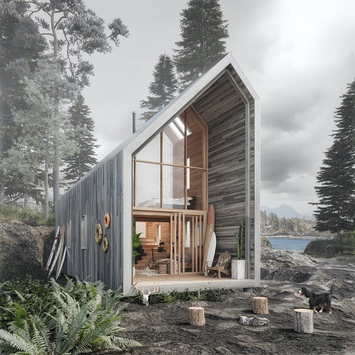 The Backcountry Hut Company, Surf Shack. Photo courtesy of Leckie Studio.