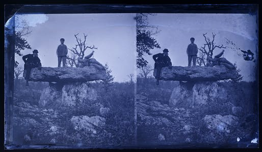 Rude forms among us, presented by Anna Neimark and SCI-Arc. Photo: Eugène Trutat, Dolmen of Vaour, Tarn, France, circa 1880. Image courtesy of Muséum d'histoire naturelle de Toulouse.