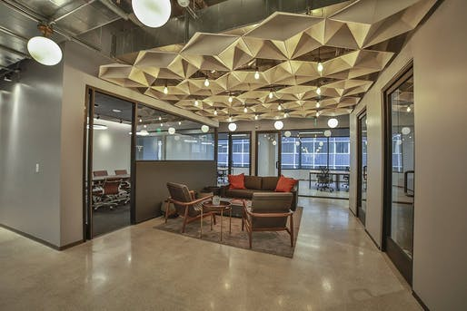 Industrious Co working space - Lounge Area. Image © Industrious